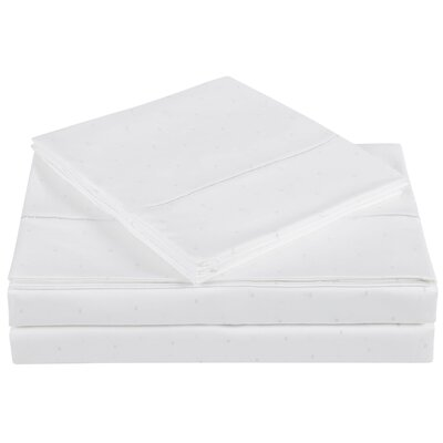 Classic 310 Thread Count Cotton Sheet Set Color: Bright White, Size: Twin
