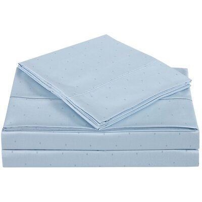 Classic 310 Thread Count Cotton Sheet Set Color: Skyway, Size: California King