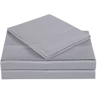 Classic 310 Thread Count Cotton Sheet Set Size: King, Color: Rain Drops