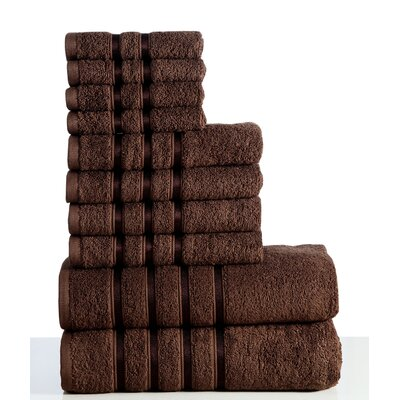 10 Piece Towel Set Color: Chocolate