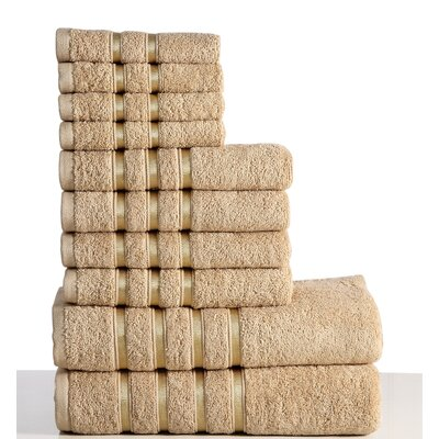 10 Piece Towel Set Color: Taupe