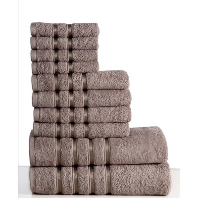 10 Piece Towel Set Color: Platinum