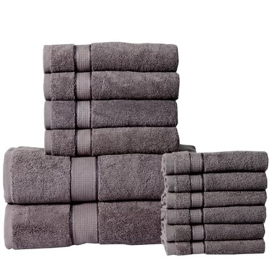 12 Piece Towel Set Color: Gray