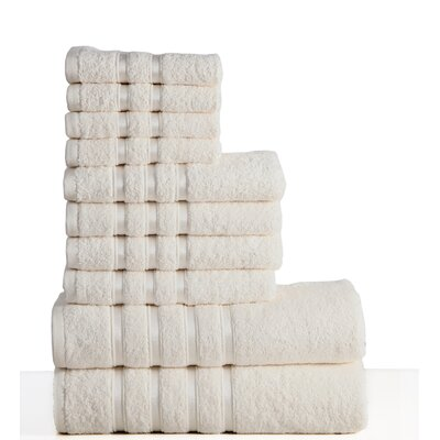 10 Piece Towel Set Color: Ivory