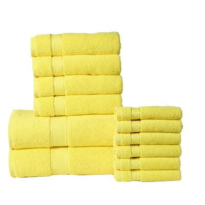 12 Piece Towel Set Color: Yellow