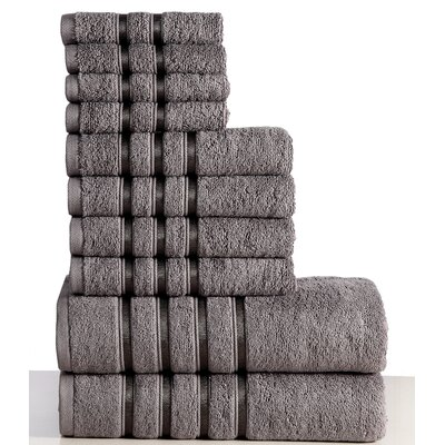 10 Piece Towel Set Color: Gray