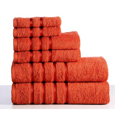 6 Piece Towel Set Color: Rust