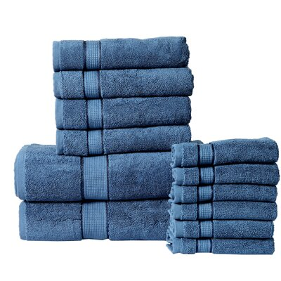12 Piece Towel Set Color: Navy Blue