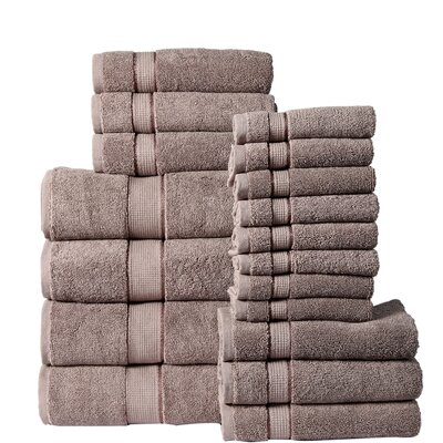 18 Piece Towel Set Color: Platinum