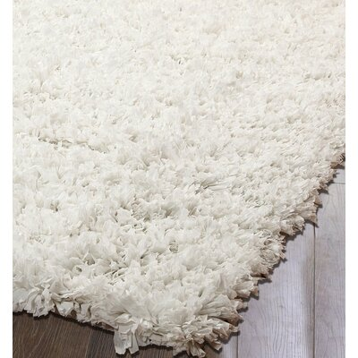 White Area Rug Rug Size: 5 x 8