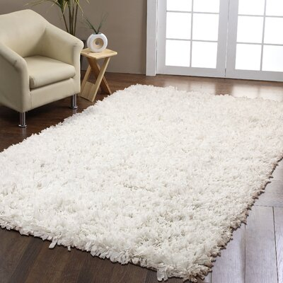 White Area Rug Rug Size: 8 x 10