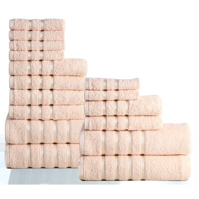 100% Combed Cotton 550 GSM 16 Piece Towel Set Color: Linen