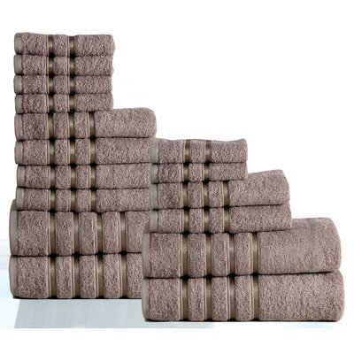 100% Combed Cotton 550 GSM 16 Piece Towel Set Color: Platinum