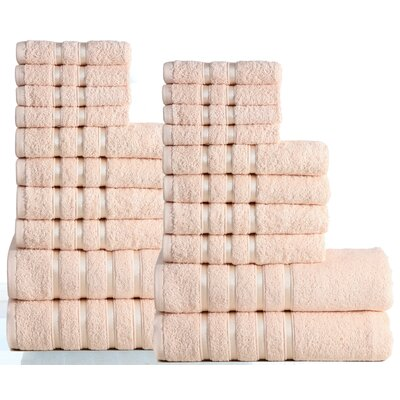 Seminole 100% Combed Cotton 550 GSM 20 Piece Towel Set Color: Linen