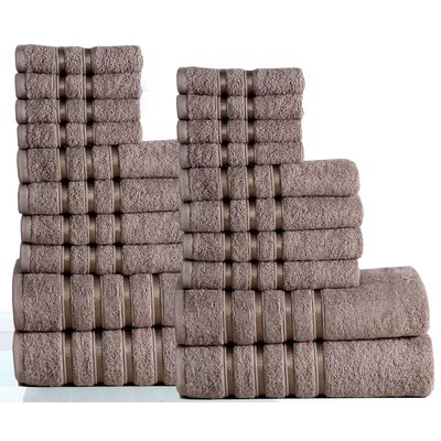 Seminole 100% Combed Cotton 550 GSM 20 Piece Towel Set Color: Platinum
