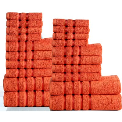 Seminole 100% Combed Cotton 550 GSM 20 Piece Towel Set Color: Rust