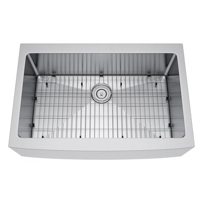 33 x 22 Farmhouse Kitchen Sink with Strainer and Grid