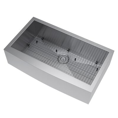 36 x 21 Farmhouse Kitchen Sink with Strainer and Grid