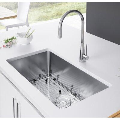 30 x 18 Undermount Kitchen Sink with Strainer and Grid