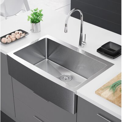 33 x 22 Farmhouse Kitchen Sink with Strainer