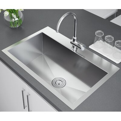 33 x 22 Drop-In Kitchen Sink with Strainer
