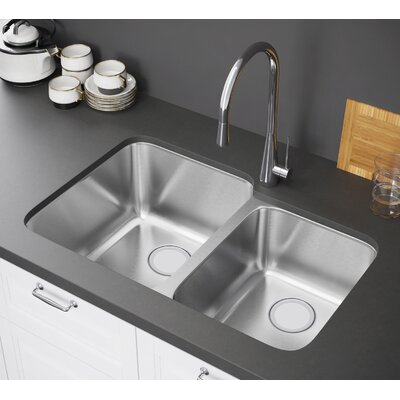 32 x 21 Double Bowl Undermount Kitchen Sink