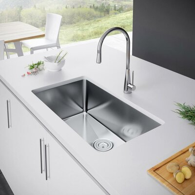 29 x 18 Undermount Kitchen Sink with Strainer