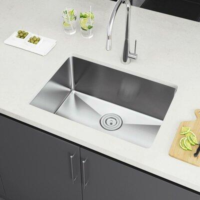 25 x 18 Undermount Kitchen Sink with Strainer
