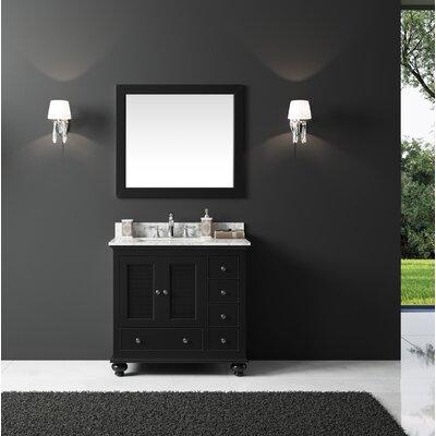 Larry 36 Single Bathroom Vanity Set with Mirror Base Finish: Espresso