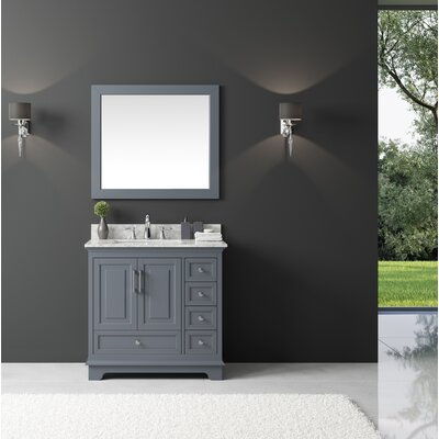 Orin 36 Single Bathroom Vanity Set with Mirror Base Finish: Cashmere Gray