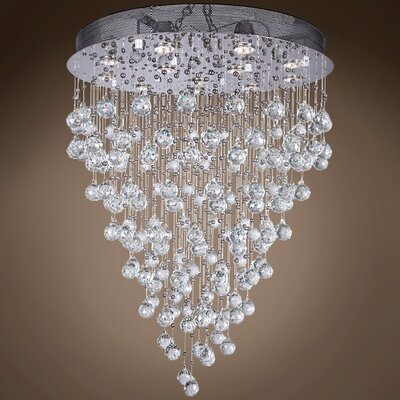 Drops of Rain 12-Light Cascade Pendant Finish: Clear European, Bulb Type: GU10