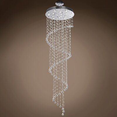 Drops of Rain 11-Light Flush Mount Finish: Clear Swarovski