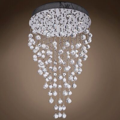 Drops of Rain 8-Light Flush Mount Finish: Clear Asfour, Bulb Type: GU10