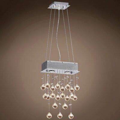 Drops of Rain 2-Light Crystal Pendant Crystal: Cognac European, Bulb Type: GU10 LED