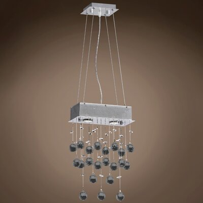 Drops of Rain 2-Light Crystal Pendant Crystal: Smoke European, Bulb Type: GU10