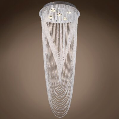 Drops of Rain 5-Light Flush Mount Bulb Type: GU10 LED