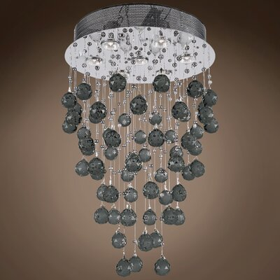 Drops of Rain 7-Light Cascade Pendant Finish: Black European, Bulb Type: GU10 LED