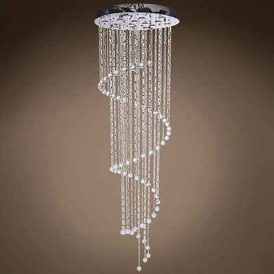 Drops of Rain 10-Light Flush Mount Finish: Clear Swarovski, Bulb Type: GU10