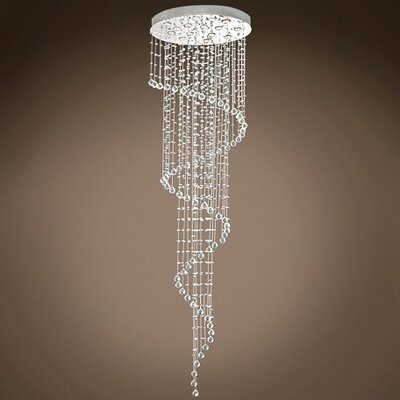 Drops of Rain 11-Light Flush Mount Finish: Clear Asfour