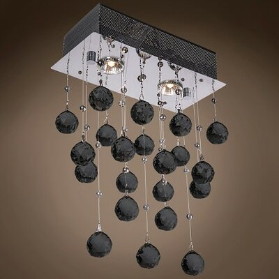 Drops of Rain 2-Light Cascade Pendant Finish: Black European, Bulb Type: GU10