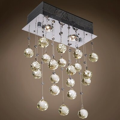 Drops of Rain 2-Light Cascade Pendant Finish: Golden Teak European, Bulb Type: GU10 LED