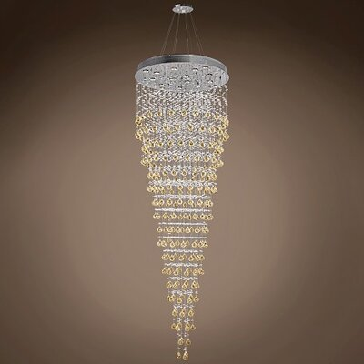 Drops of Rain 16-Light Crystal Pendant Crystal: Cognac European