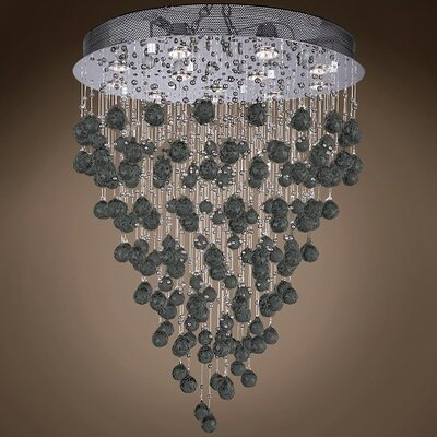 Drops of Rain 12-Light Cascade Pendant Finish: Black European, Bulb Type: GU10 LED