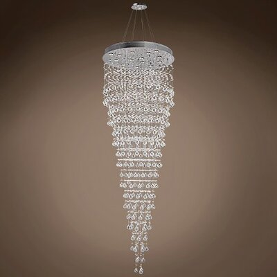 Drops of Rain 16-Light Crystal Pendant Crystal: Clear Swarovski 701303-018