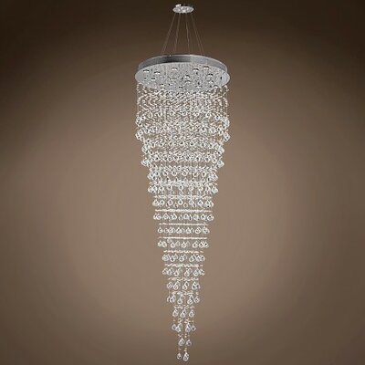 Drops of Rain 16-Light Crystal Pendant Crystal: Clear European