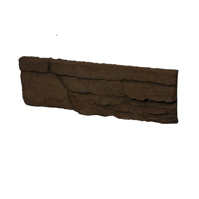 Odyssee Random Sized Manufactured Stone Veneer Wall Tile in Brown (Set of 8)