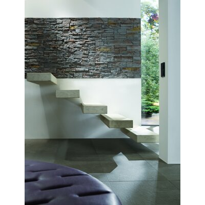 Odyssee Random Sized Manufactured Stone Veneer Wall Tile in Charcoal Brown (Set of 4)