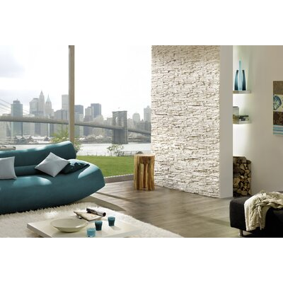 Pegasus Random Sized Gypsum Stone-Look Wall Tile in White (Set of 5)