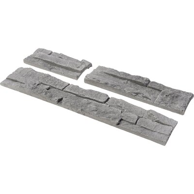Odyssee Random Sized Manufactured Stone Veneer Wall Tile in Gray (Set of 4)
