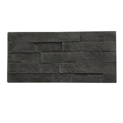 Rock Valley Random Sized Manufactured Stone Veneer Wall Tile in Charcoal (Set of 10)